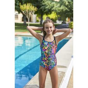 Zoggs Zany Skin Duoback Swimsuit Girls multi